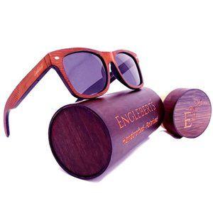 Red Stripe Two Tone Sunglasses Polarized